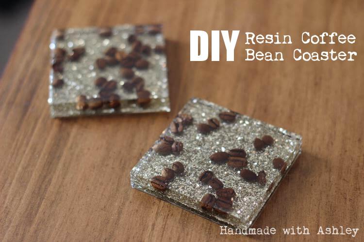 Diy Resin Coffee Bean Coaster Handmade With Ashley