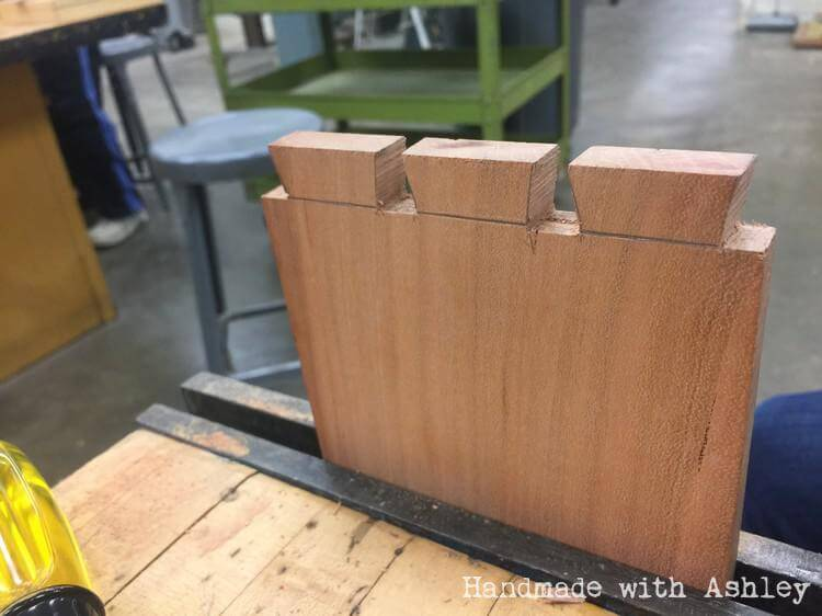 Cutting out dovetail