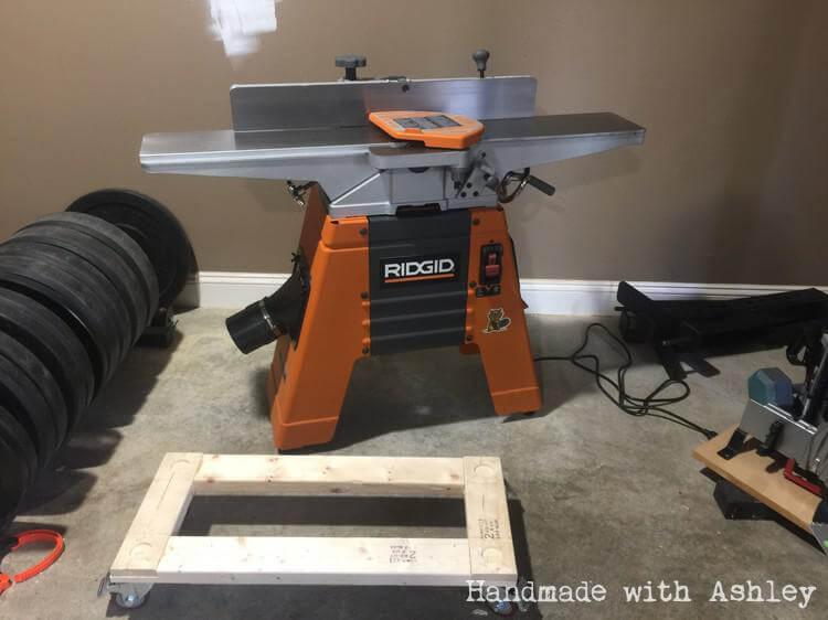 DIY Ridgid Jointer Mobile Base