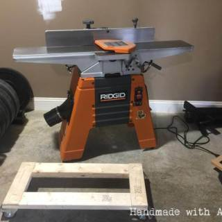 DIY Ridgid Jointer Mobile Base