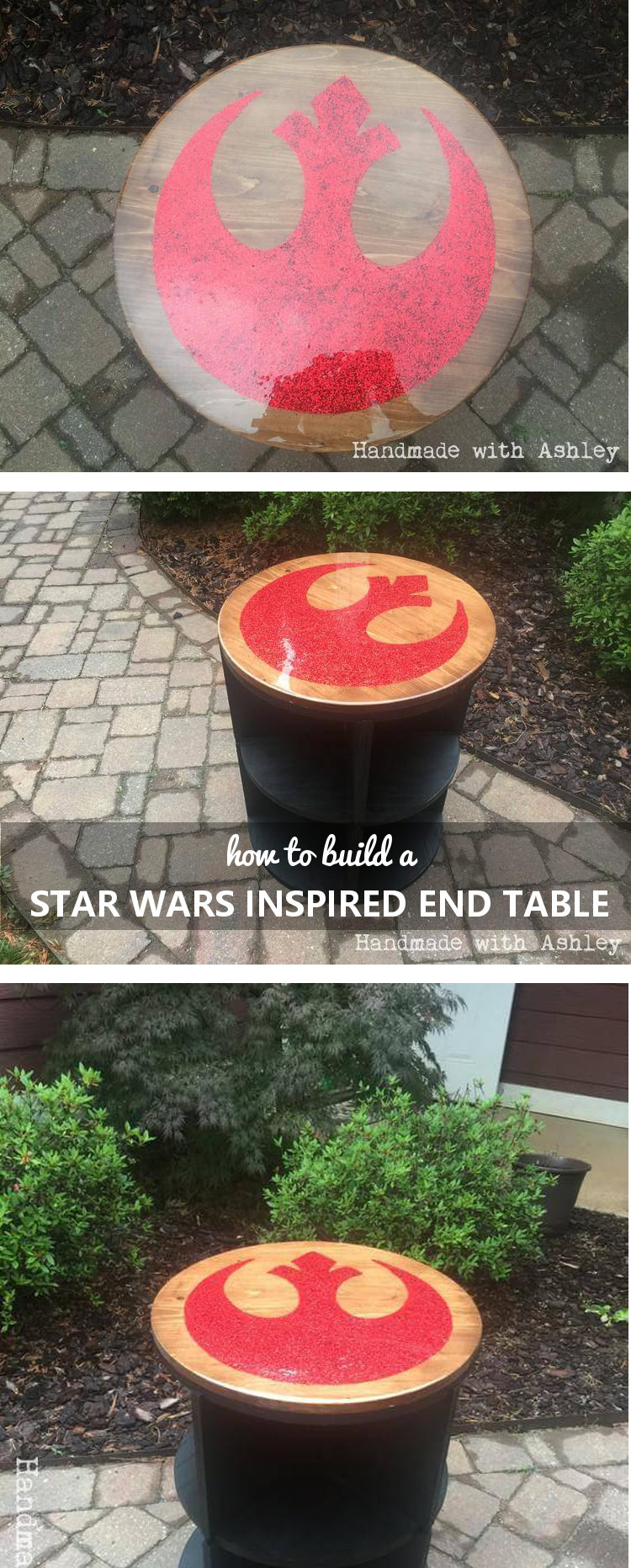Pin it! How to build a Star Wars Inspired End Table