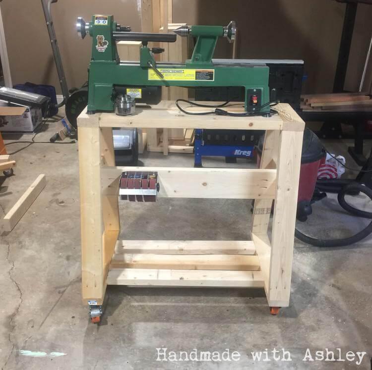 Diy Mobile Lathe Stand Handmade With Ashley