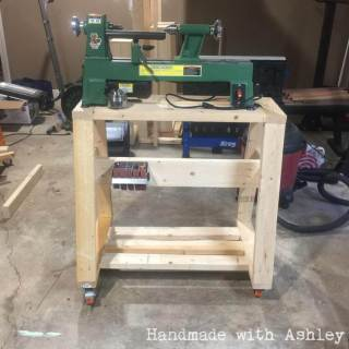 DIY Mobile Lathe Stand