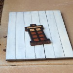 Snapping a few photos of the Tardis end grain cutting board