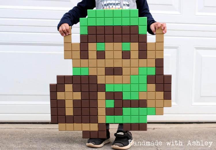 The Legend of Zelda 8-bit Pixel Art   How to Make 8-bit Link ...