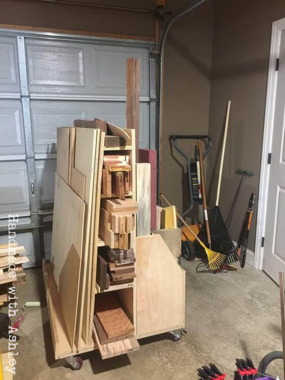 Diy Mobile Lumber Cart Plans From Woodworking For Mere Mortals Handmade With Ashley