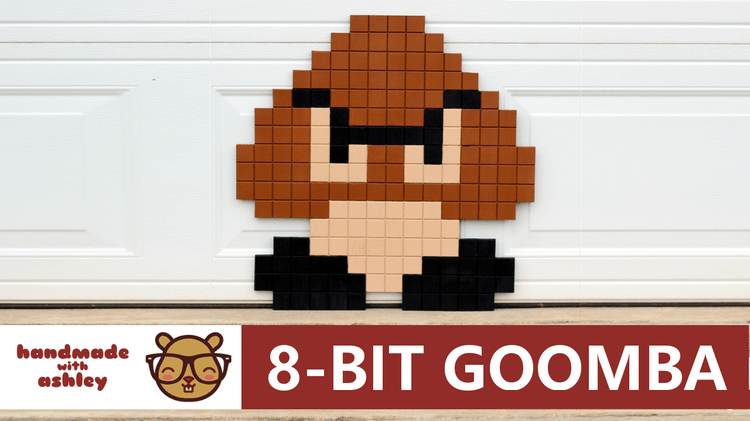How To Make 8 Bit Pixel Goomba From The NES Version Of Super Mario Bros