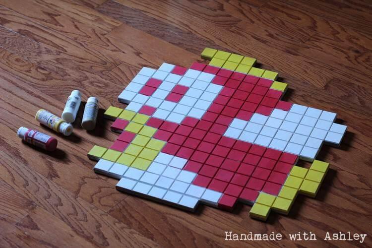8-Bit Super Mario Bros Cheep Cheep Wall Art Tutorial - Handmade with ...
