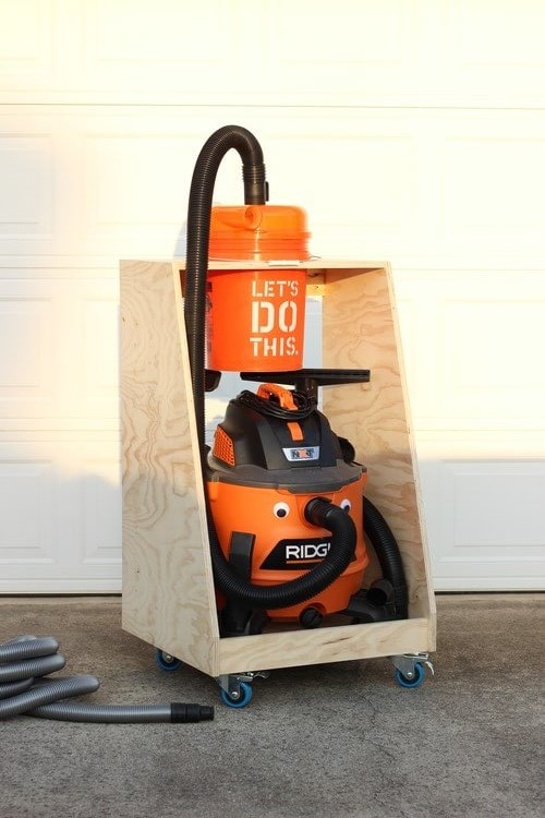 Dust Collection Cart for a Shop Vac and Dustopper | How to
