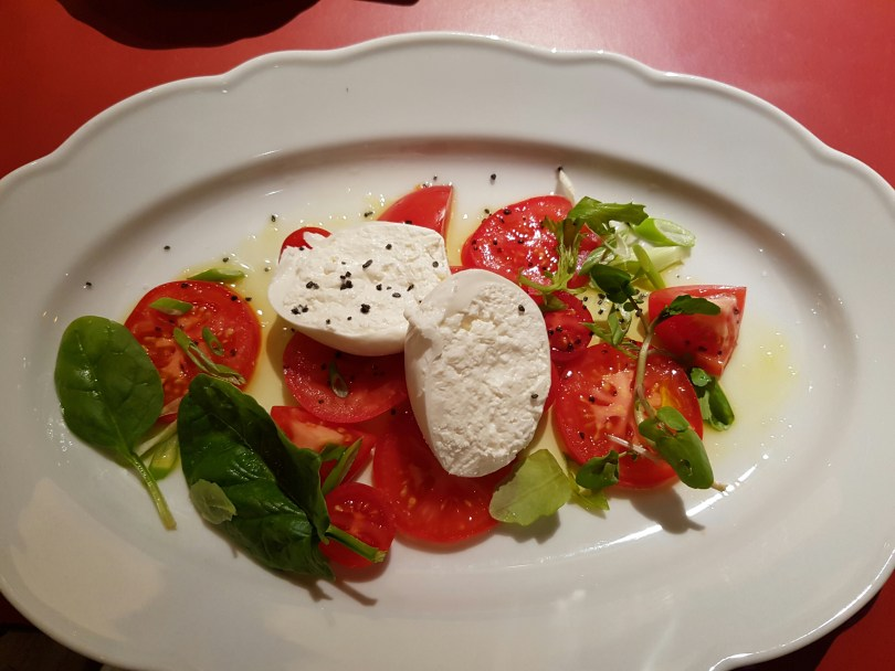 Burrata and Heirloom Tomato for my starter