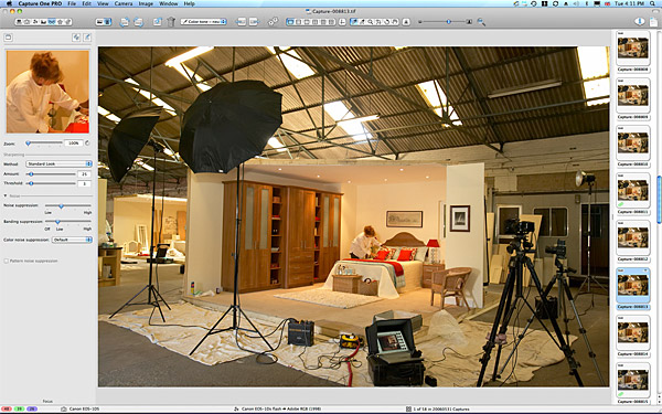 One of the room sets inside a warehouse near Dungannon.