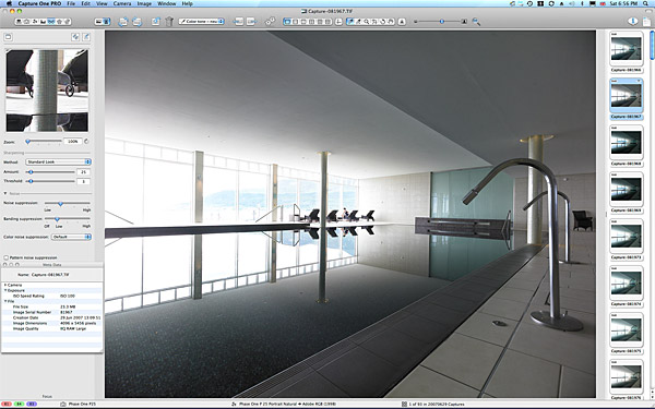 One of the main pictures used to create the final image of the swimming pool at the Slieve Donard Resort & Spa Hotel in Newcastle.