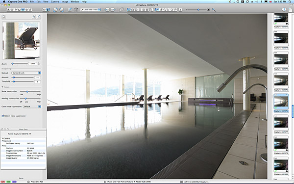One of the mainly pictures used to create the final image of the swimming pool at the Slieve Donard Resort & Spa Hotel in Newcastle.