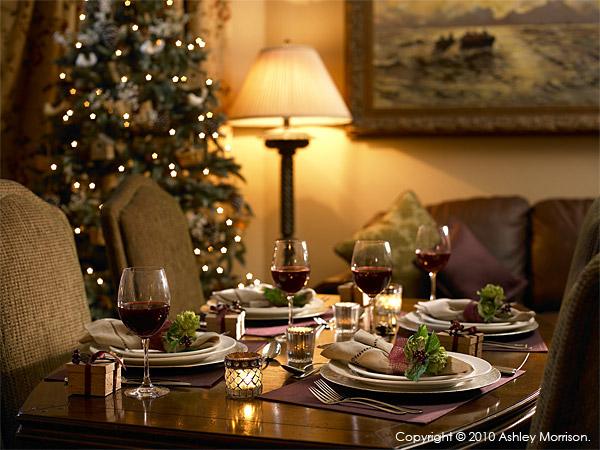 Christmas table shot at Doonbeg.