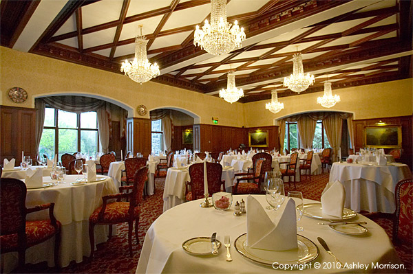 George V dining room at Ashford Castle