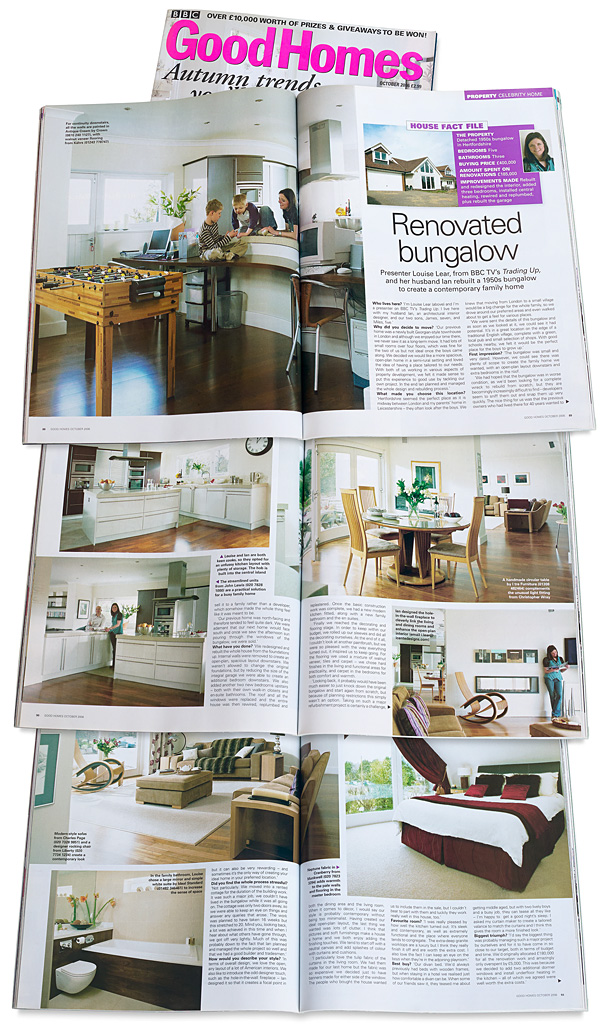 Pages 88 to 93 in the October 2006 issue of BBC Good Homes magazine.