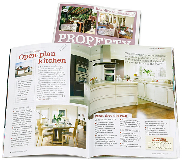 Property Projects in the May 2007 issue of BBC Good Homes magazine.
