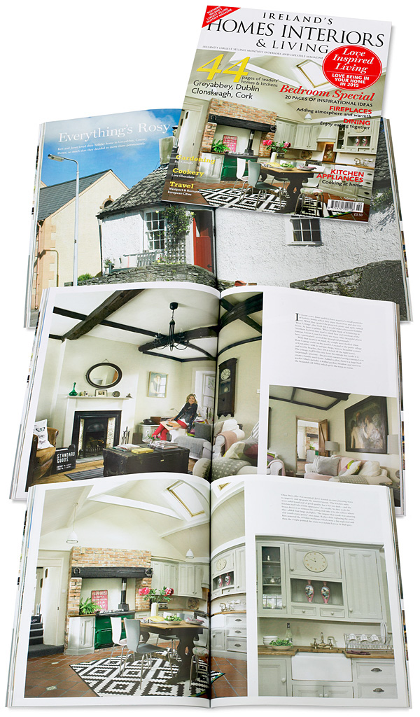 Cover plus pages 66 to 79 in the January 2015 issue of Ireland's Homes Interiors & Living magazine