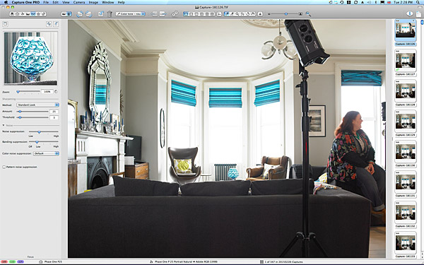 First image taken in the sitting room of Keri Johnston's townhouse which overlooks Ballyholme Bay in the County Down seaside town of Bangor.
