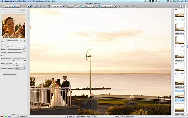 Bride and Groom on the balcony at 6:40 in the morning at the Galway Bay Hotel in Salthill.