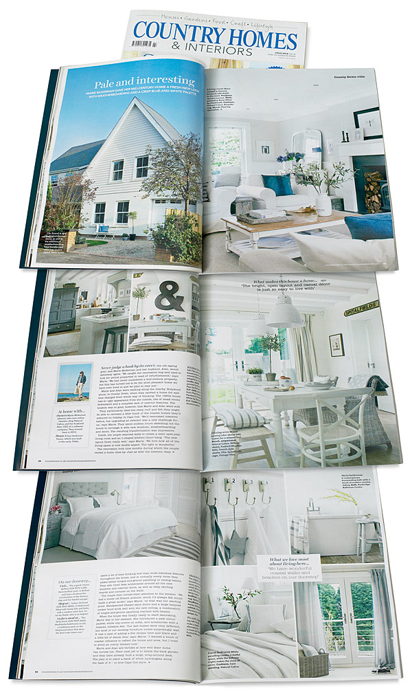 Pages 48 to 54 in the July 2015 issue of Country Homes & Interiors magazine - featuring Marie & Alan (McMillen) McKernan's renovated 1960's home near Holywood in County Down.