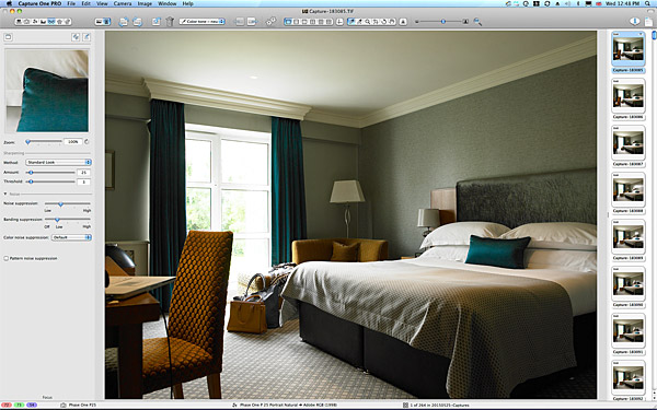 First image taken of the bedroom suite at the Killarney Park Hotel in the Irish county of Kerry.