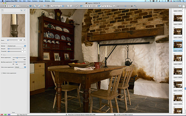 One of the first picture taken of the kitchen in Maggie & Robert Graham's Irish thatched cottage near the village of Kerrykeel in County Donegal.