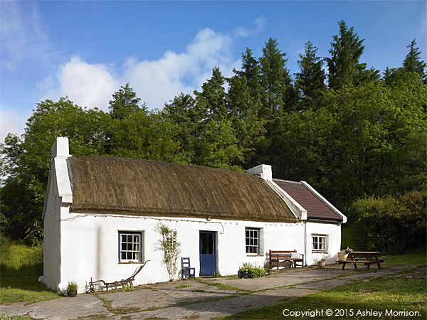 Maggie & Robert Graham's Irish thatched cottage near the village of Kerrykeel in County Donegal.