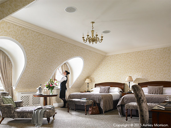 Bedroom suite at the Killarney Park Hotel in the Irish county of Kerry.