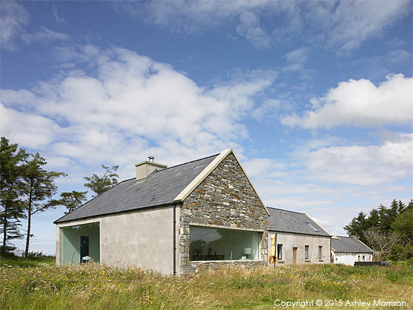 Dominic & Louise McGuane's renovated farmhouse called The Safe House near the village of Cooraclare in County Clare.