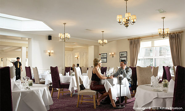 The restaurant at the Breaffy House Resort in County Mayo.