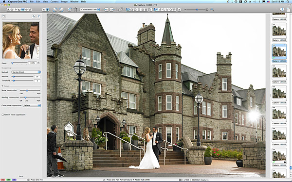 One of the first images taken of the Bride & Groom outside the Breaffy House Resort.
