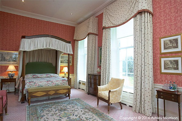 Recce images of one of the bedrooms at The K Club located near Straffan in County Kildare.