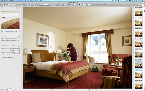 Marie at work in the Classic bedroom at the Galway Bay Hotel on the promenade at Salthill.