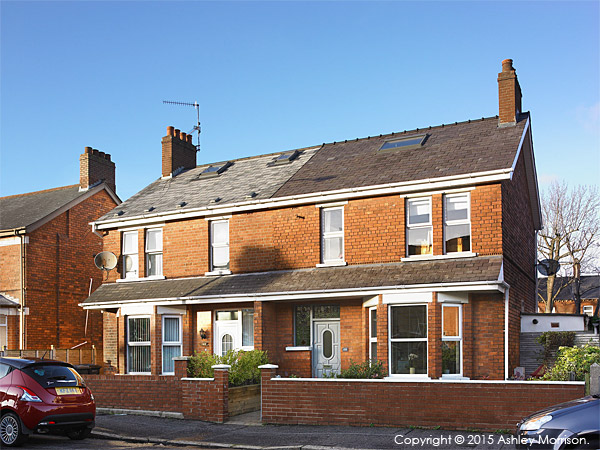 Siobhan and Barrie McQuillan's semi detached house in Belfast.