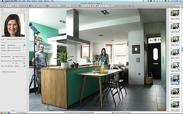 One of the first pictures taken in the kitchen of Siobhan and Barrie McQuillan's semi detached house in Belfast.