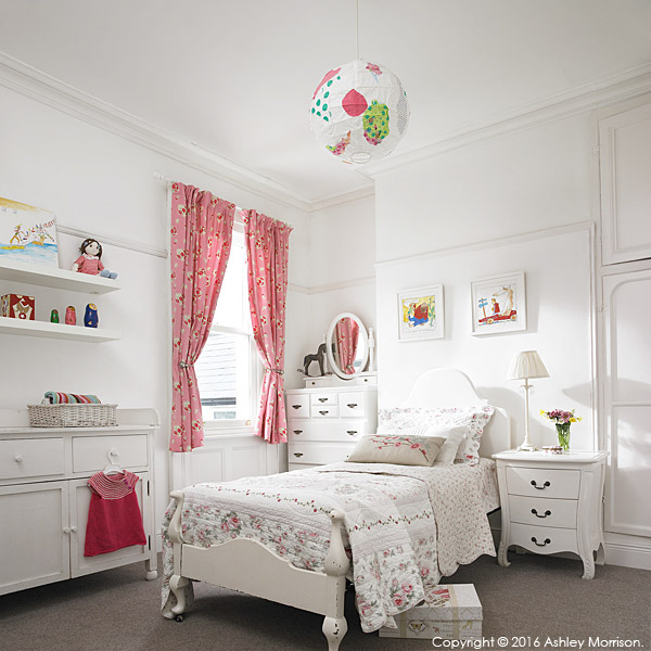 Daughter's bedroom in Emma and Graham Cooper's Victorian semi in Belfast.