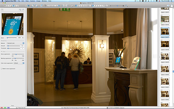First picture taken of the Reception area at Killarney Park Hotel in the Irish County of Kerry.