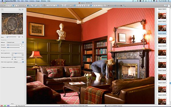 One of the first pictures taken in the Library at Killarney Park Hotel.