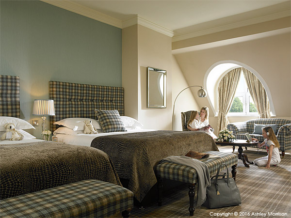 The Deluxe Family Room at Killarney Park Hotel in the Irish County of Kerry.