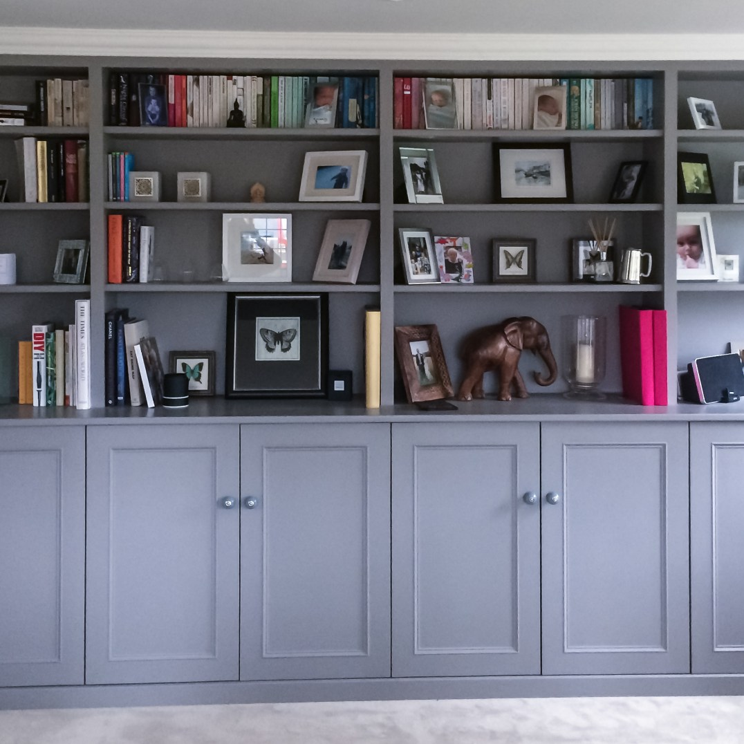 Split-Depth Bookcase & Cabinets