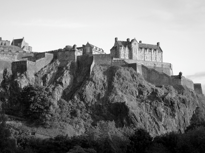 Edinburgh Castle B&W
