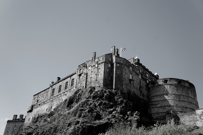 Edinburgh Castle Black & White