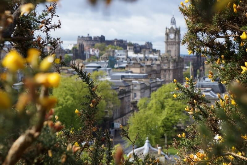 Calton Hill Edinburgh View
