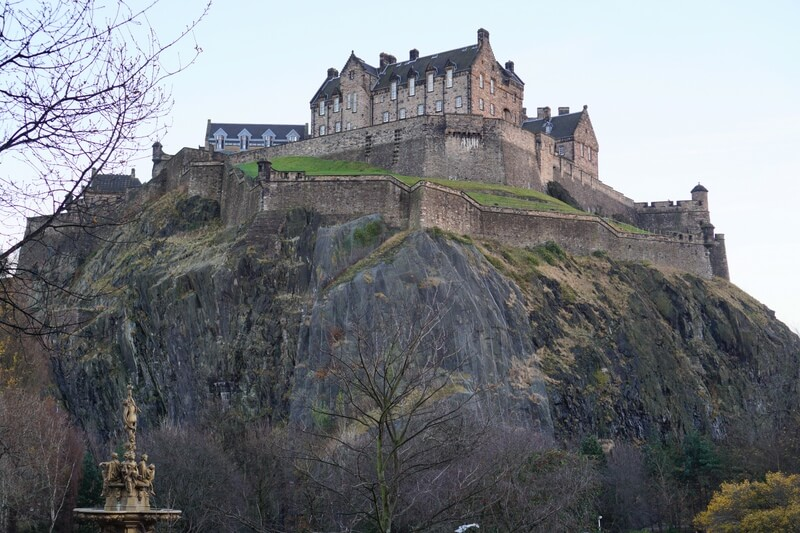 Princes Street Gardens Edinburgh Castle
