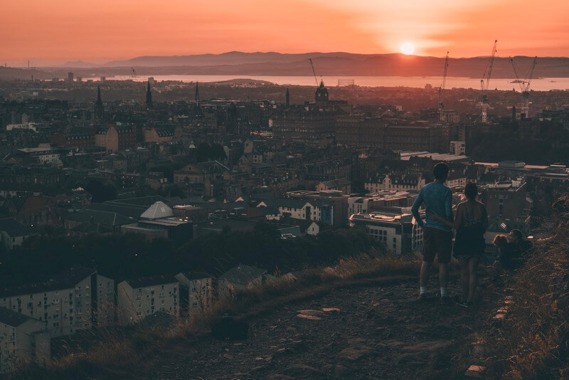 Edinburgh Arthur's Seat Sunset