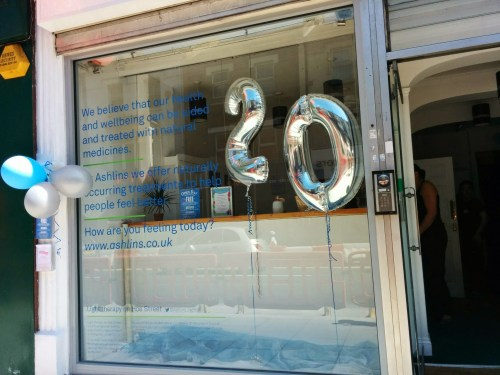 Birthday Balloons in our new window display