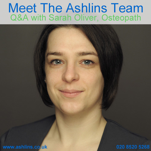 Q&A with our Osteopath, Sarah Oliver