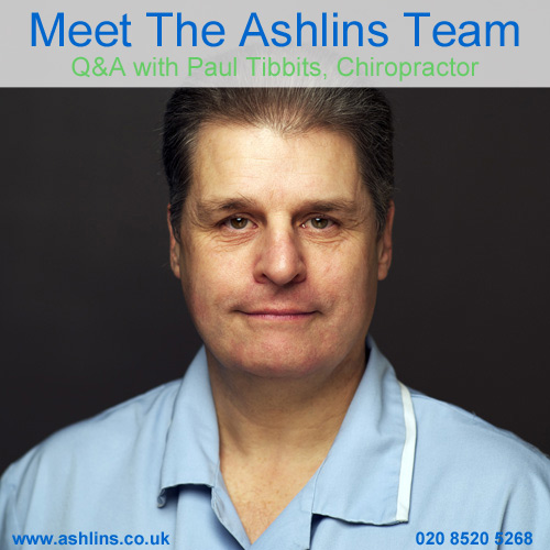 Meet the Ashlins Team: Q&A with Paul, McTimoney Chiropractor