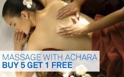 Buy 5 Get 1 Free Massage with Achara